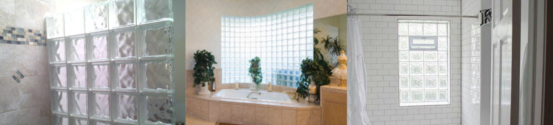 bathroom glass block window slider