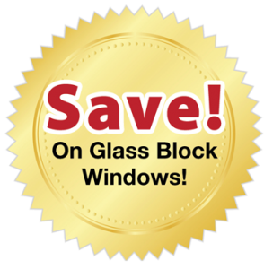 gold burst save on glass block image